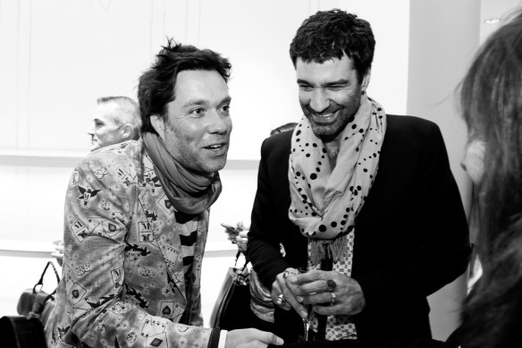 Rufus Wainwright & Jorn Weisbrodt, the most darling pair in the room.