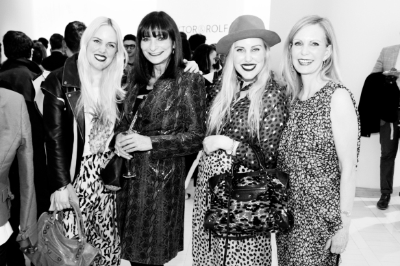 Jeanne Beker with the Beckerman sisters in a print extravaganza.