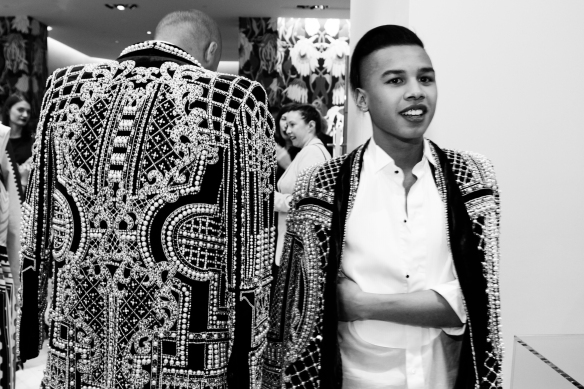 Jay Strut and his boy ballin' in matching Balmain.