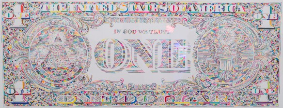 Tom Friedman, 'Untitled (dollar print, back),' 2011
