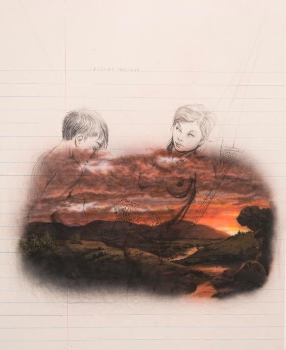 Friedrich Kunath, 'A Fucking Landscape (Study),' 2014