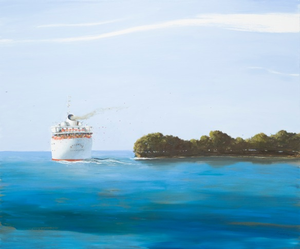 Julio Larraz, 'Where the Santa Ana Meets the Sea,' 2013  $140,000