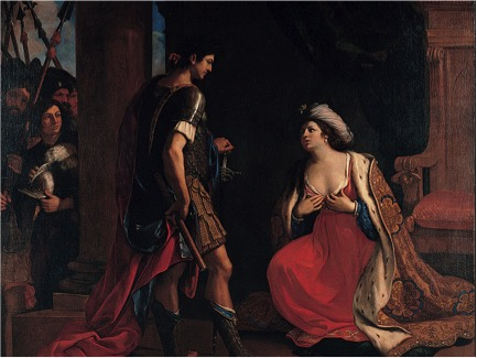 'Cleopatra & Octavian' by Guercino �